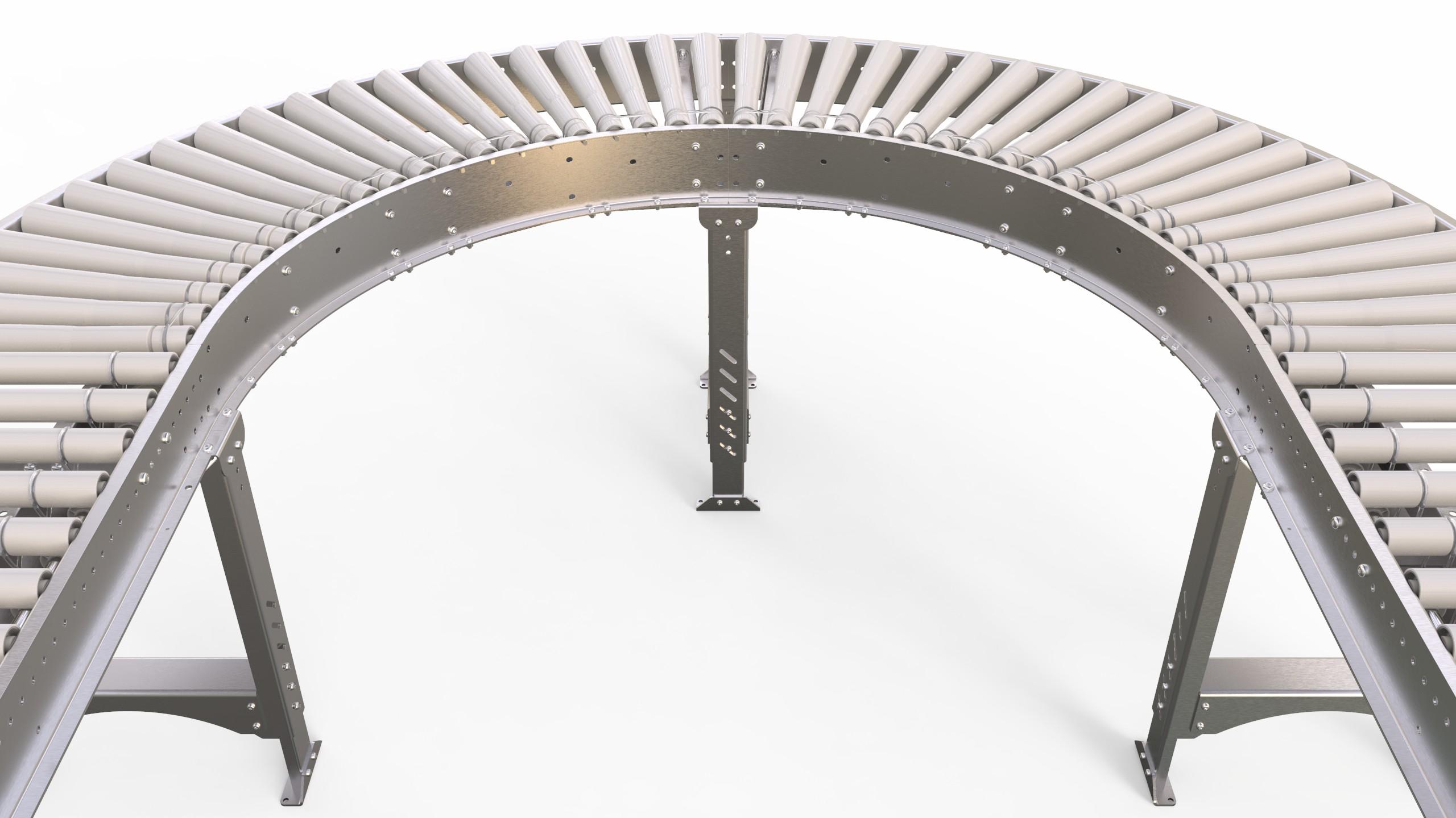 Tranzband (Lineshaft) Powered Roller Conveyor | Dyno
