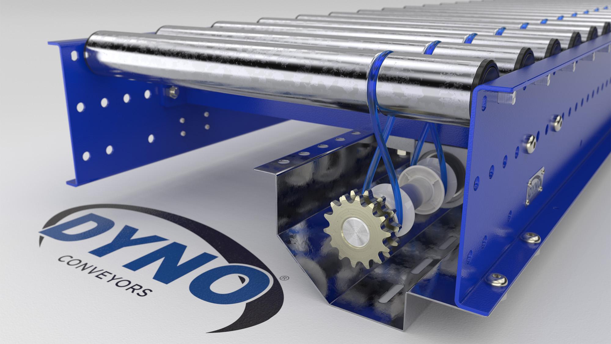 Plastic conveyor chain couplings dyno