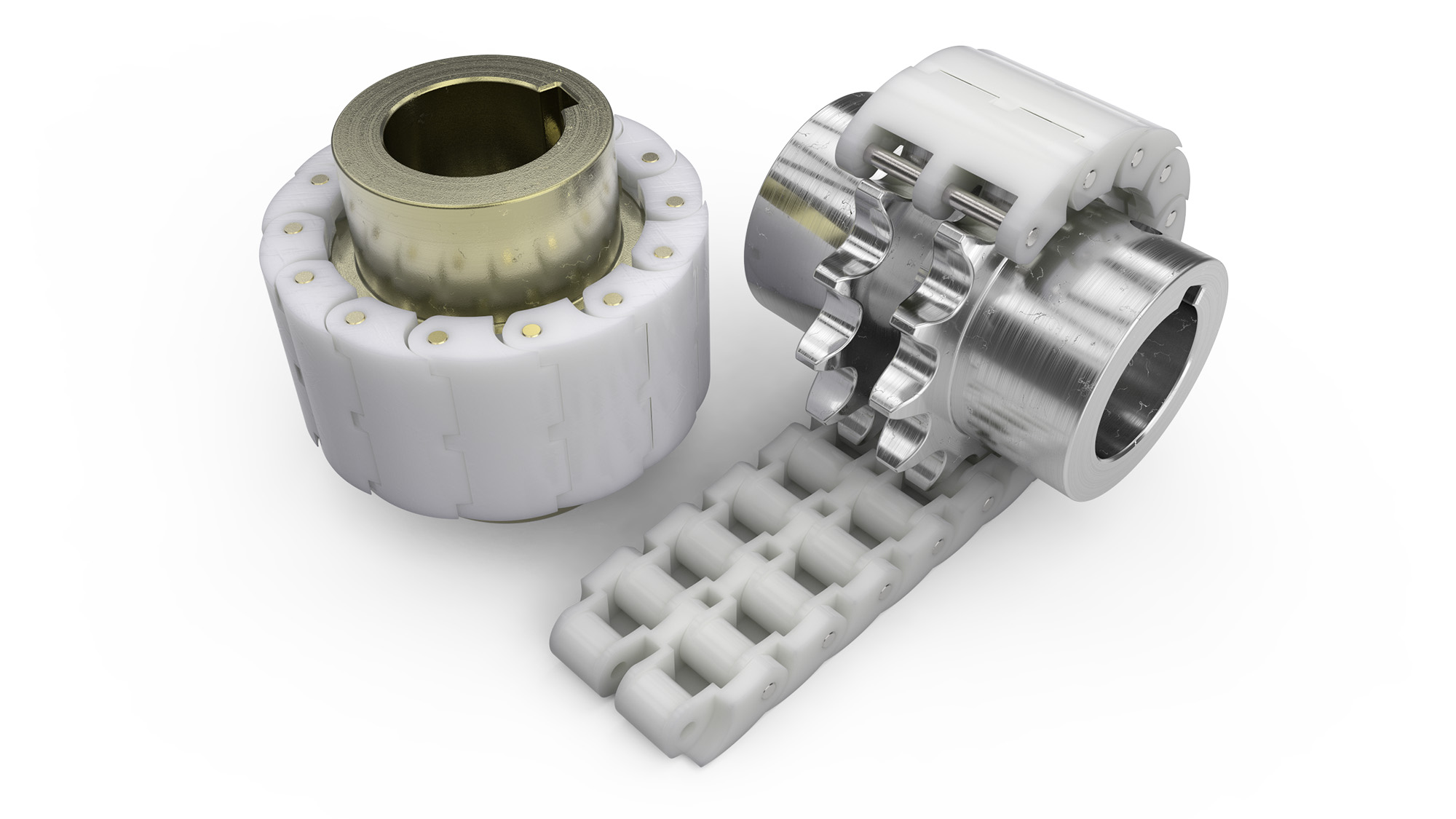 Plastic chain couplings dyno conveyors roller belt
