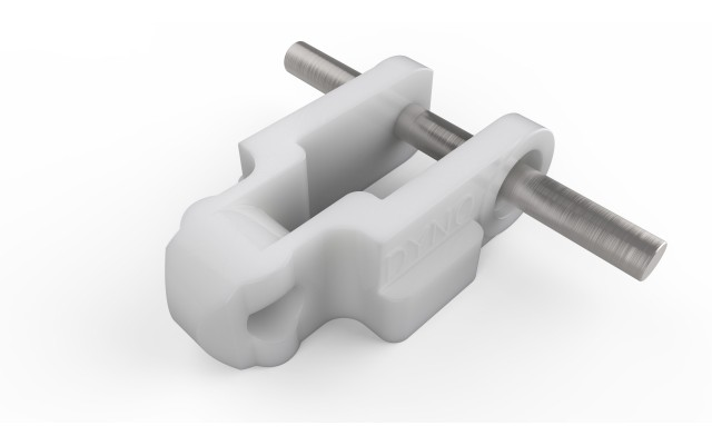 600 Chain White Acetal Lugged Double Extended Pin